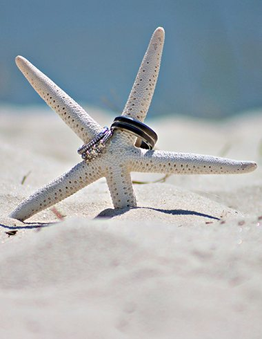 Wedding Rings on the Beach
